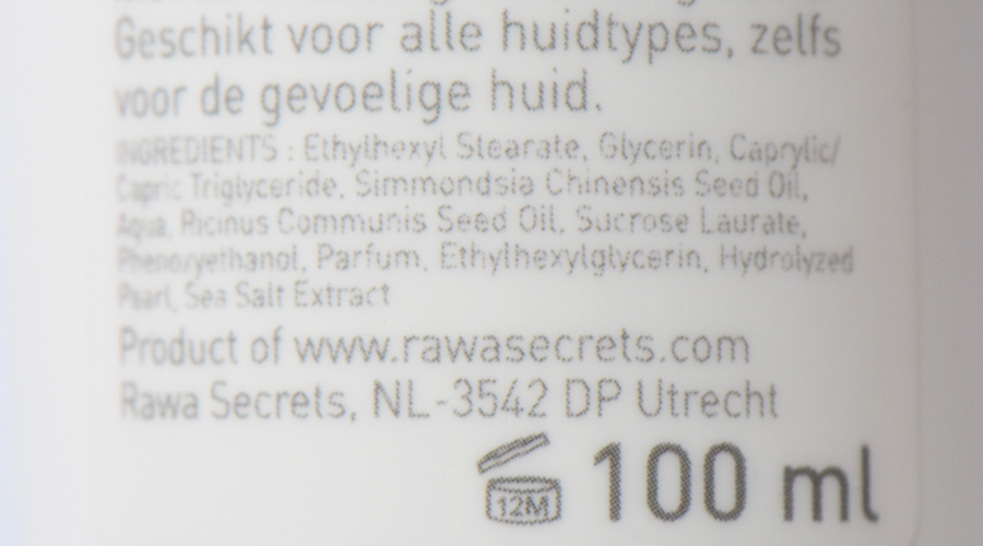 rawasecretsingredientencleansinggel